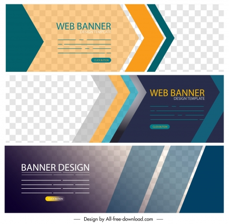 Corporate Banner Templates Modern Horizontal Design Vectors Stock In Format For Free Download 1 83mb