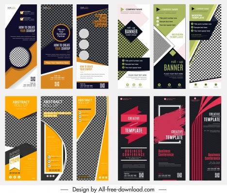 corporate banners templates modern design vertical shape