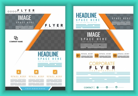 corporate brochure cover template modern white grey design