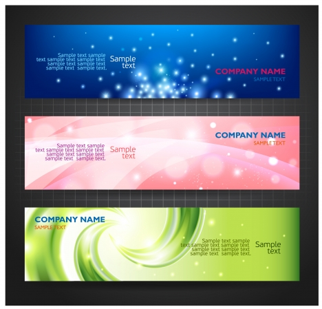 corporate identity design on dazzling background