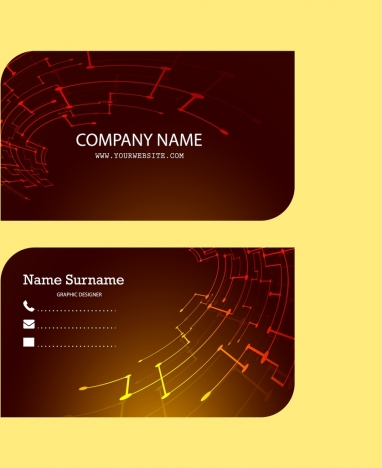 corporate name card design technological symbol decoration background