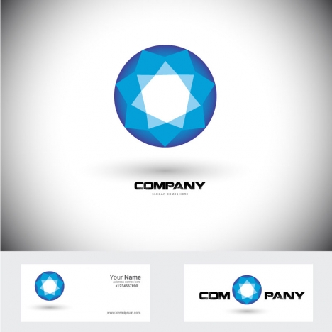 corporation logo design with diamond shape illustration
