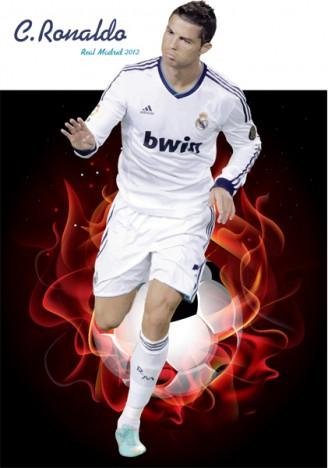 Cristiano Ronaldo Real Madrid Png, Cliparts & Cartoons - Jing.fm
