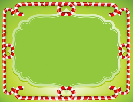 Curly Candy Cane Horizontal Frame