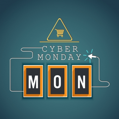 cyber monday sales banner computer mouse arrow icon