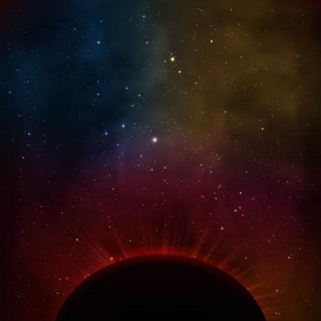 dark space night sky planet