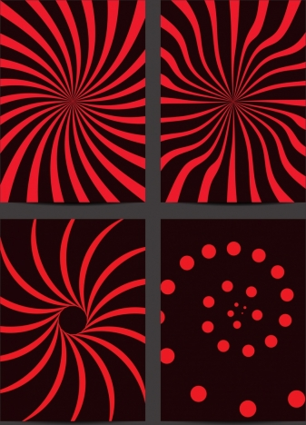 decorative background twisted red lines spots decoration