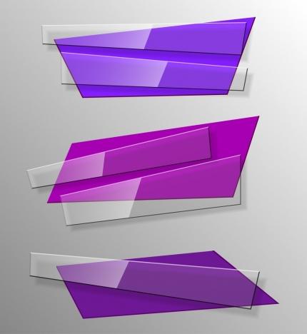 decorative glass objects templates 3d purple design