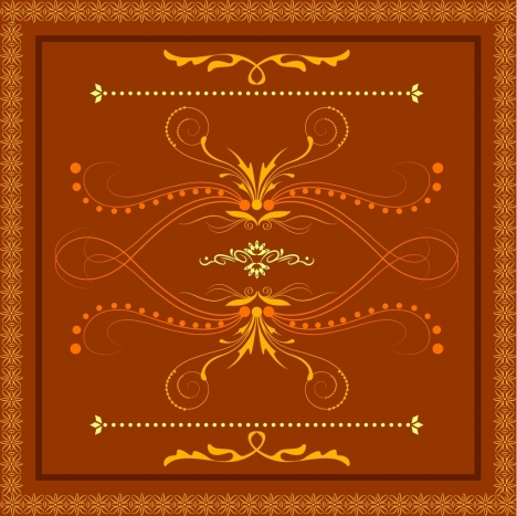 decorative pattern design elements orange classical style