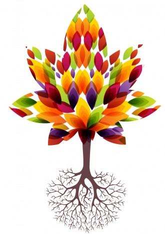 Decorative tree and roots