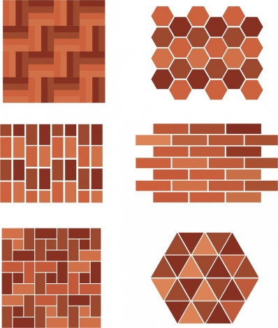 decorative wall background sets flat brown geometric design