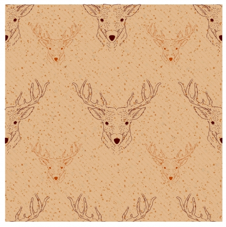 deer head pattern