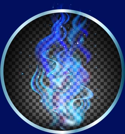 delusion background blue smoke checkered decor shiny circle