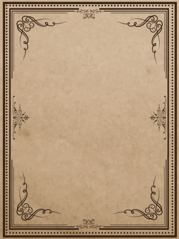 document border template classical curves decoration symmetric style