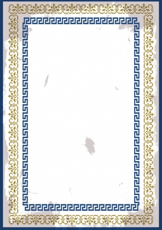 document border template seamless yellow blue design classical style