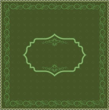 document decorative template classical green design
