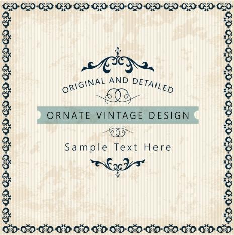 document decorative template classical symmetric decoration