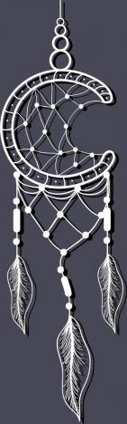 dream catcher background design boho style design