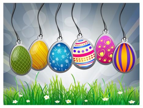 Easter labels set