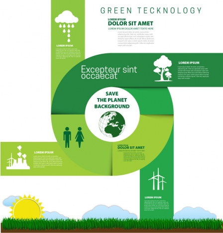 eco saving background design with modern style