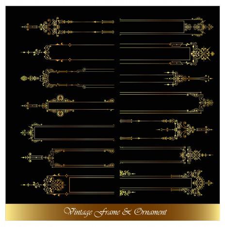 elegant frame ornament collection