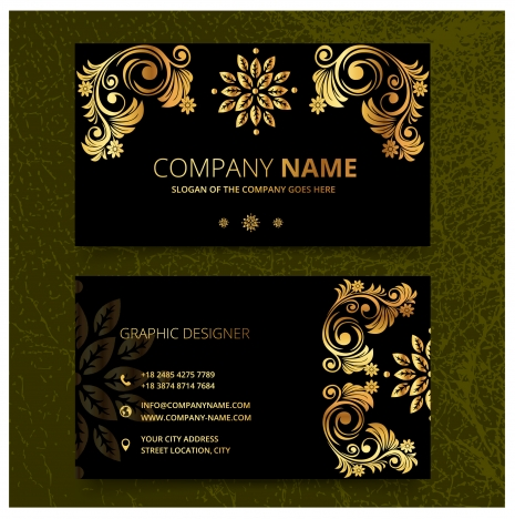 elegence vintage business card templates vectors stock in
