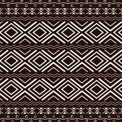 ethnic pattern design classical brown repeating decoration