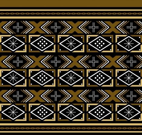 ethnic pattern design elegant abstract style