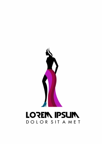 Fashion Logo Design With Model In Silhouette Style Vectors Stock In Format For Free Download 1 59mb