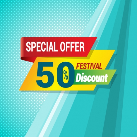 festival special discount banner template