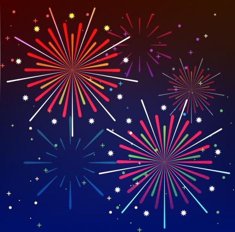 fireworks background design colorful lines decoration