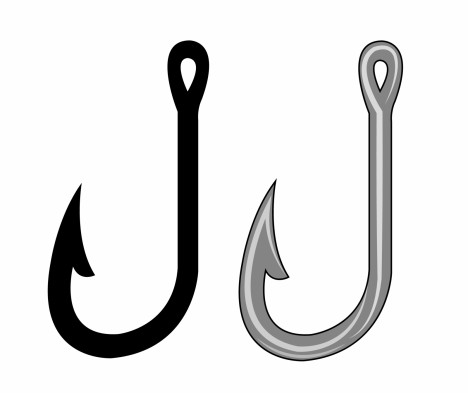 Fishing hook vectors stock in format for free download 680 for Fish and hooks