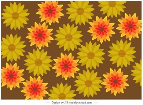 floral background blooming petals sketch