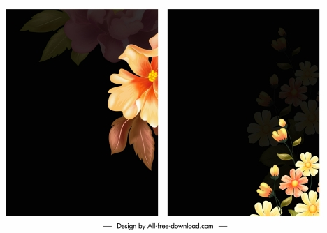 floral background modern contrast blurred design