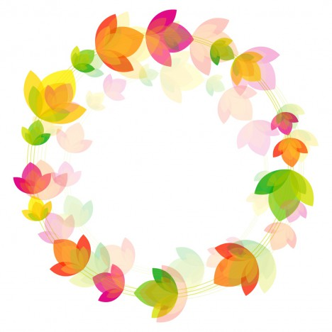Flower circle background