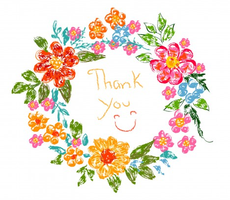 Flower frame thank you card vectors stock in format for free ...