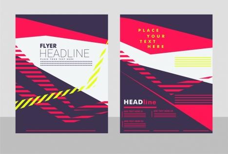 flyer cover design modern dark background style