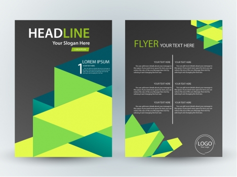 flyer design with abstract contrast background