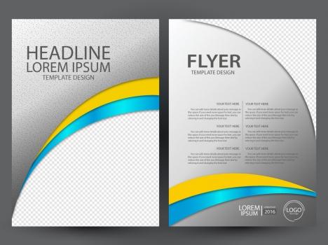 flyer design with curved illustration background
