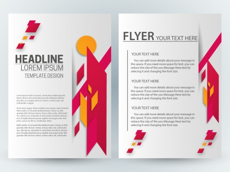 Flyer template design with green curves illustration vectors stock ...