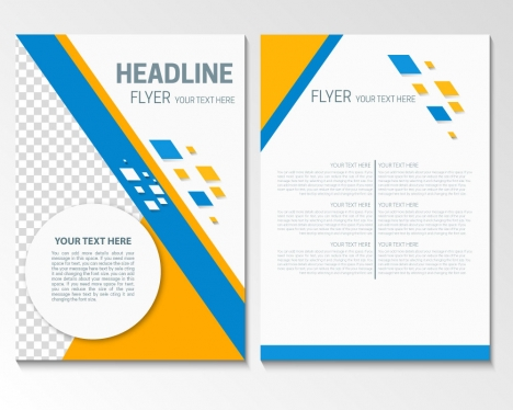 flyer template with modern style design