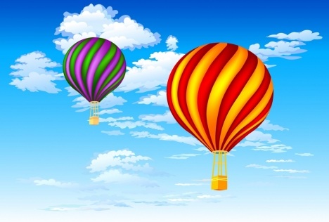flying balloons background colorful decoration