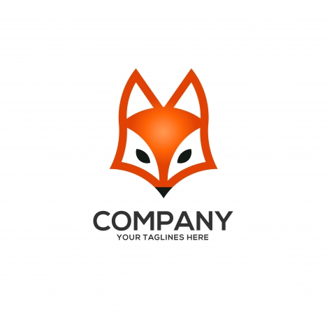 fox head logo vector flat vector fox logo isolated on white background