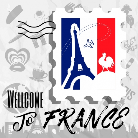 france advertising banner symbols decoration classical design