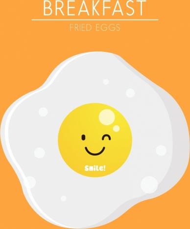 fried egg background cute stylized cartoon design