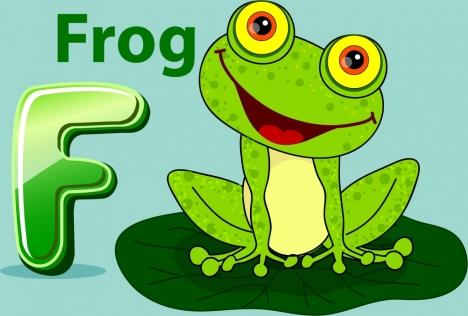 frog background green icon cartoon design