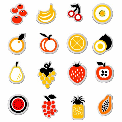 fruit icon sticker
