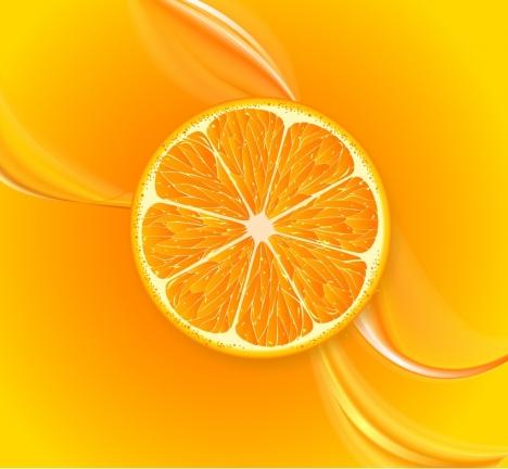 fruit juice background orange slice decoration closeup style