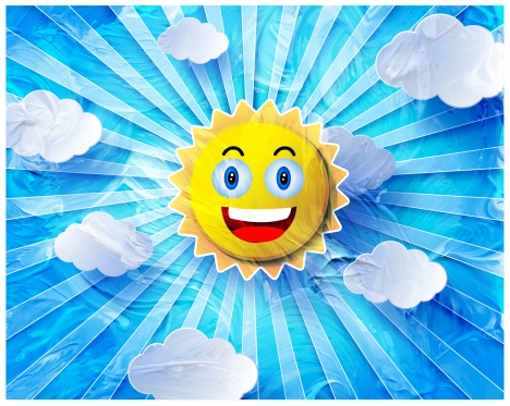 Funny Sun Vector Design With Blue Background Vectors Stock In