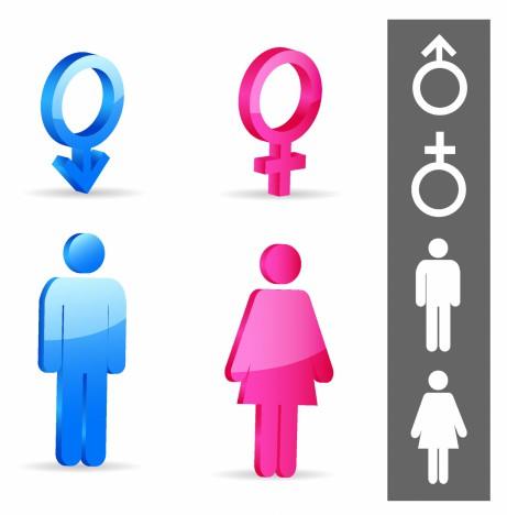 Gender symbols.